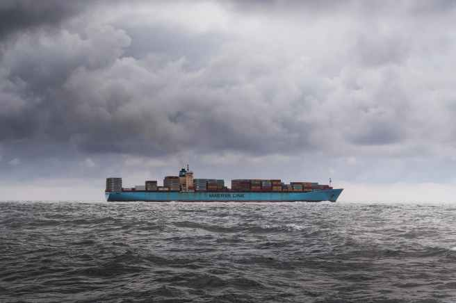 sea clouds boat ship